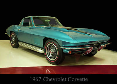 Poster featuring the digital art 1967 Chevrolet Corvette 2 by Chris Flees