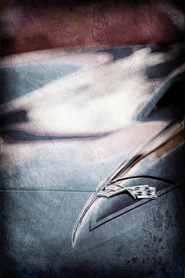 1967 Chevrolet Corvette Emblem -0429ac Poster by Jill Reger