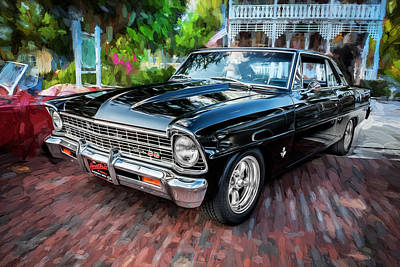 1967 Chevrolet Nova Super Sport Painted Bw 4 Poster by Rich Franco
