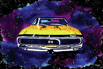 1967 Chevy Camaro Ss Poster by Paula Ayers