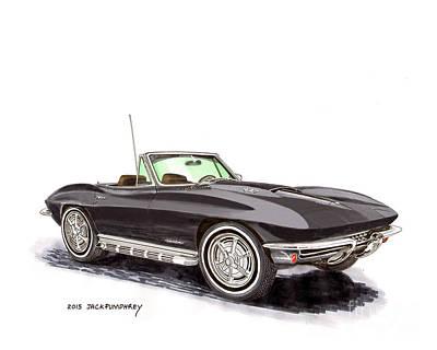 1967 Corvette Stingray Convert. Poster by Jack Pumphrey