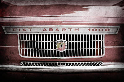 1967 Fiat Abarth 1000 Otr Grille Emblem -0588ac Poster