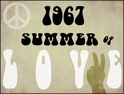 1967 Summer Of Love Newspaper Poster by Mindy Sommers