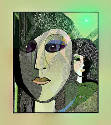 Poster featuring the digital art 1968 - A Dolls Head by Irmgard Schoendorf Welch