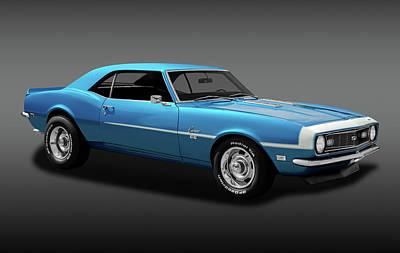 1968 Chevrolet Camaro Super Sport 350   -  1968chevcamaross350fa170414 Poster