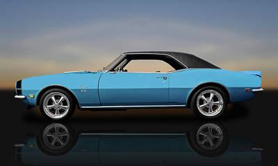 1968 Chevrolet Camaro Super Sport 396   -   68camarossreflect0130 Poster