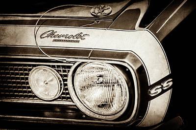 1968 Chevrolet Yenko Super Camaro Hood Emblem -1785s Poster by Jill Reger