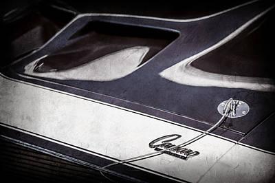 1968 Chevrolet Yenko Super Camaro Ss Hood Emblem -1767ac Poster by Jill Reger