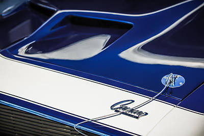 1968 Chevrolet Yenko Super Camaro Ss Hood Emblem -1767c Poster by Jill Reger