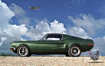 1968 Ford Bullitt Mustang Gt 390 Fastback, Steve Mcqueen Poster