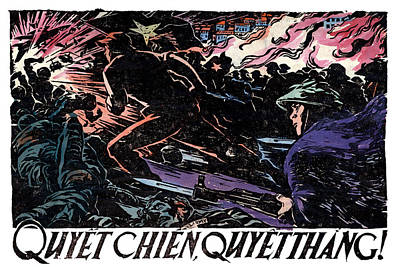 Poster featuring the painting 1968 North Vietnamese Propaganda by Historic Image