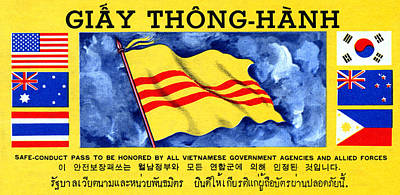 Poster featuring the painting 1968 Vietnam War Safe Conduct Pass by Historic Image