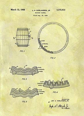 1968 Whiskey Barrel Patent Poster by Dan Sproul