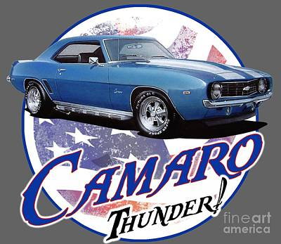 1969 Camaro By Chevrolet Poster