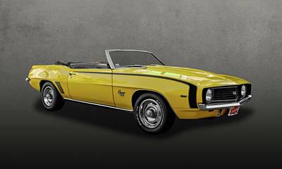 1969 Chevrolet Camaro Super Sport Convertible  -  69camaross201 Poster