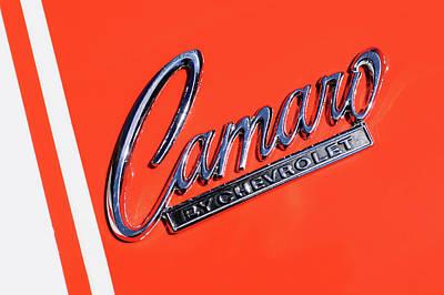 1969 Chevrolet Camaro Z-28 302 Emblem -0162c Poster by Jill Reger