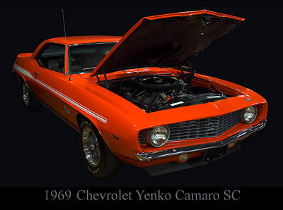 1969 Chevy Yenko Camaro Sc Poster by Chris Flees