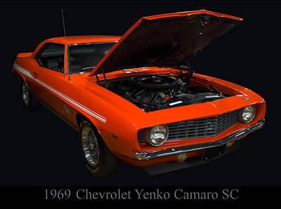 1969 Chevy Yenko Camaro Sc Poster