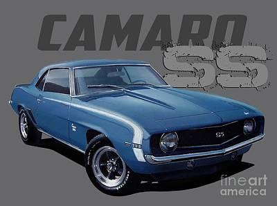 1969 Custom Camaro Ss Poster