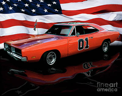 1969 General Lee Poster by Peter Piatt
