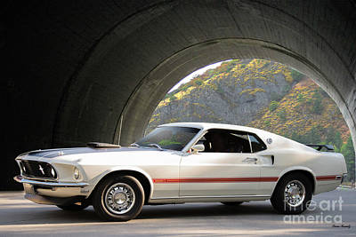 1969 Mustang Mach I Fasback Poster
