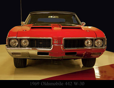 Poster featuring the photograph 1969 Oldsmobile 442 W-30 by Chris Flees
