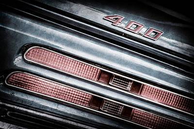 1969 Pontiac 400 Firebird Convertible Tail Light Emblem -0029ac Poster by Jill Reger