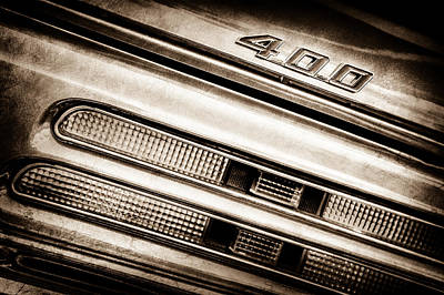 1969 Pontiac 400 Firebird Convertible Tail Light Emblem -0029s Poster by Jill Reger