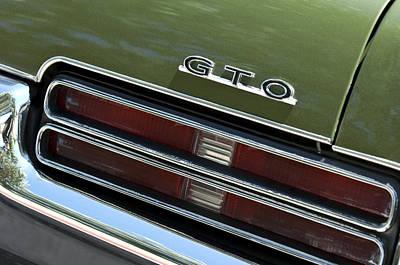 1969 Pontiac Gto Taillight Emblem Poster by Jill Reger