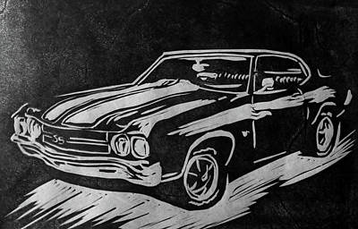 1970 Chevelle Poster by Alisha Floy