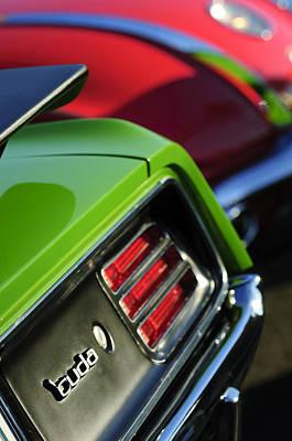 1970 Plymouth Barracuda Cuda Taillight Emblem Poster by Jill Reger