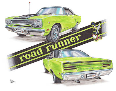 1970 Plymouth Road Runner Poster by Shannon Watts