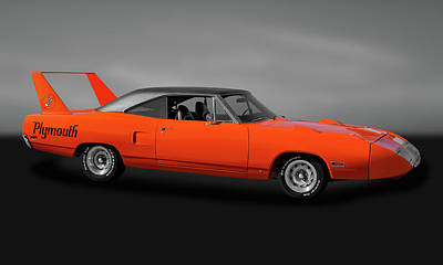 Poster featuring the photograph 1970 Plymouth Road Runner Superbird  -  1970plysuperbirdgry170528 by Frank J Benz