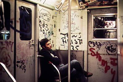 1970s America. Graffiti On A Subway Poster