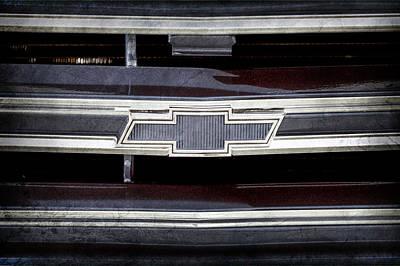 1971 Chevrolet Grille Emblem -0763ac Poster by Jill Reger
