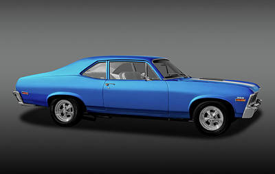 Poster featuring the photograph 1971 Chevrolet Nova Super Sport 350   -  1971chevroletnovassfa170507 by Frank J Benz