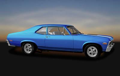 Poster featuring the photograph 1971 Chevrolet Nova Super Sport 350   -   1971chevynova350ss170507 by Frank J Benz