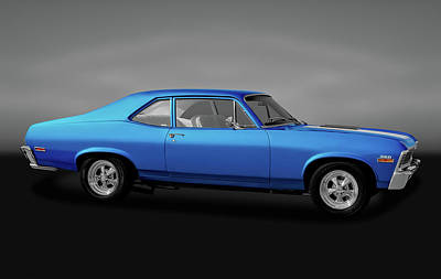 Poster featuring the photograph 1971 Chevrolet Nova Super Sport 350   -  1971chevynovassgry170507 by Frank J Benz