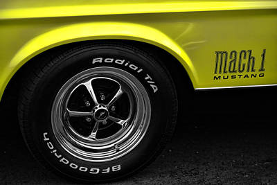 1971 Ford Mustang Mach 1 Poster by Gordon Dean II