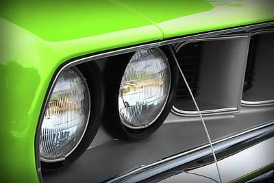 1971 Plymouth Barracuda Cuda Sublime Green Poster