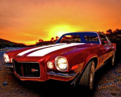 1971 Z28 Camaro Hdr Vivid Remembrance Poster