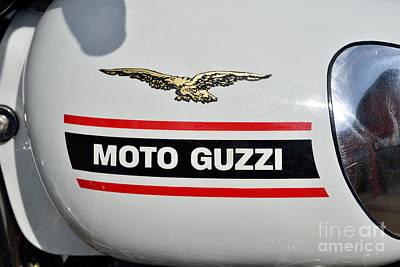1972 Moto Guzzi V7 Fuel Tank Poster