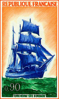 1972 Newfoundland Neuvas Emerald Coast Poster by Lanjee Chee