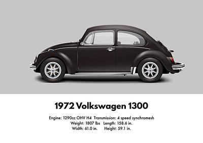 1972 Volkswagen 1300 - Custom Poster