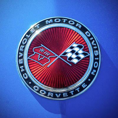 1974 Corvette Sting Ray Convertible Emblem Poster
