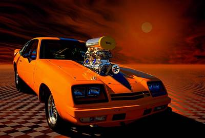 1977 Chevrolet Monza Dragster Poster