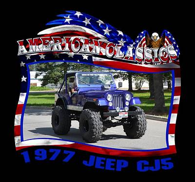 1977 Jeep Cj5 Allen Poster by Mobile Event Photo Car Show Photography