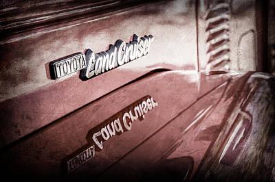 1977 Toyota Land Cruiser Fj40 Emblem -0952ac Poster by Jill Reger