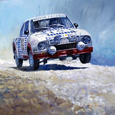 1978 Skoda 130 Rs #19 Rally Acropolis Haugland Poster by Yuriy Shevchuk