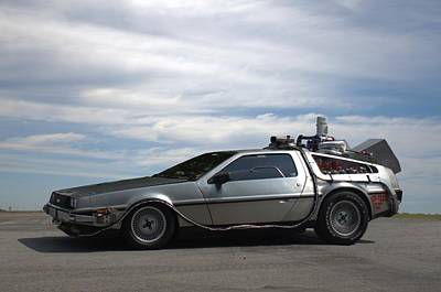 Poster featuring the photograph 1981 Delorean Dmc12 by Tim McCullough